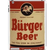 BEER - Vintage Burguer can. iPad Case/Skin