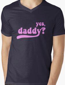 yes, daddy? [black] Mens V-Neck T-Shirt