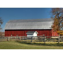 The Red Barn Photographic Print