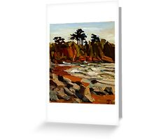 A Tramp Along the English Riviera. Greeting Card