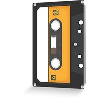 Awesome blank music tape Greeting Card