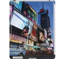 The lights of Times Square at twilight, NYC iPad Case/Skin