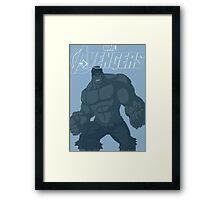 The Avenger Hulk Framed Print