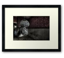 Slayed shade Framed Print