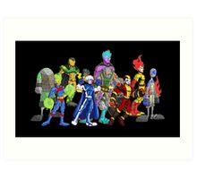 poster I: superheroes/villains Art Print