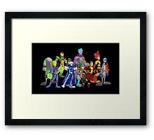 poster I: superheroes/villains Framed Print