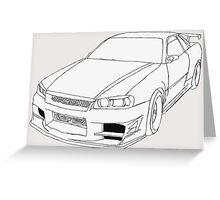 Nissan Skyline Greeting Card