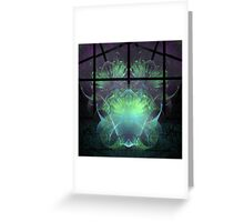 Aliens In My Greenhouse Greeting Card