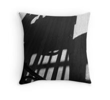 Blue M Cafe - Shadow play Throw Pillow