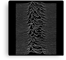 Pulsar waves - Black&White Canvas Print