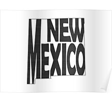 New Mexico State Word Art Poster