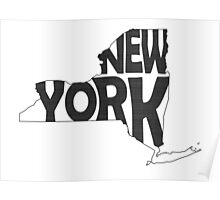New York State Word Art Poster