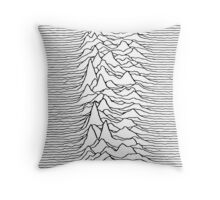 Pulsar waves - white&black Throw Pillow