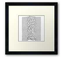 Pulsar waves - white&black Framed Print