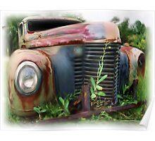Old International Truck Poster