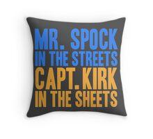 STAR TREK ORIGINAL  Mr. Spock Captain Kirk William Shatner Leonard Nimoy Throw Pillow