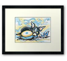 Chihuahua Good Day Crafting Framed Print