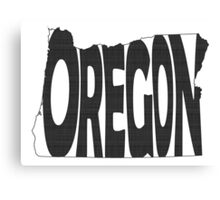 Oregon State Word Art Canvas Print