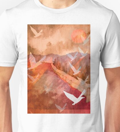 Gulls Overflying Downland Unisex T-Shirt