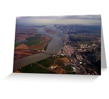 Lisbon airviews        Portugal Greeting Card