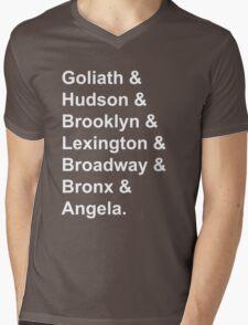 Gargoyles White Font Mens V-Neck T-Shirt