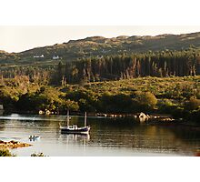 Lonesome boatmen - Dunboy Harbour, West Cork Photographic Print