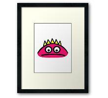 Cute monster face Framed Print