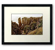 Pancake rocks Framed Print