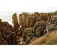 Pancake rocks Photographic Print