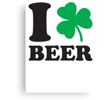 St. Patrick's day: I love Beer Canvas Print