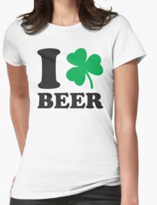 St. Patrick's day: I love Beer Womens Fitted T-Shirt
