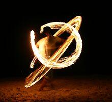 Beach fireball by BlairC