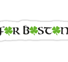 St. Patrick's day: For Boston Sticker