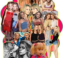 Mary-kate and Ashley Olsen Collage by Gregory Wilson