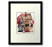 Mary-kate and Ashley Olsen Collage Framed Print