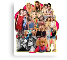 Mary-kate and Ashley Olsen Collage Canvas Print