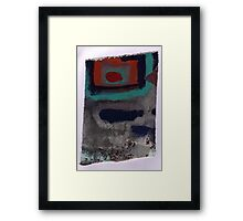 Piece 3 rectangle red Framed Print