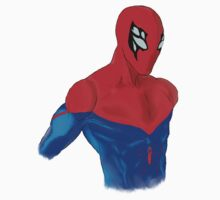 Spider-Man Alternative Suit Design Bust (White) Kids Tee