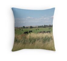 Country Moo's Throw Pillow