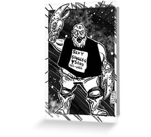 CANCER JAQUES Greeting Card
