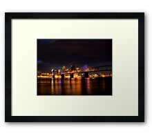 Louisville By Night Framed Print