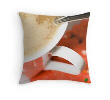 Coffee & Cookies Throw Pillow