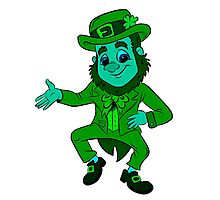 Blue Lucky the Leprechaun  Photographic Print