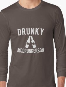 Drunky McDrunkerson St. Patrick's Long Sleeve T-Shirt