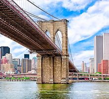 Brooklyn Bridge & The Manhattan Skyline by Mark Tisdale