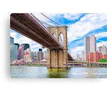 Brooklyn Bridge & The Manhattan Skyline Canvas Print