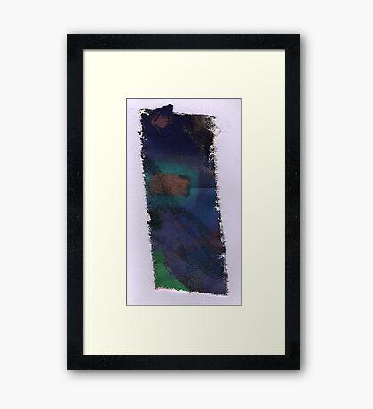 Piece 7 rectangle green. Framed Print