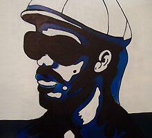 Pop art portrait of Stevie Wonder by TaraO