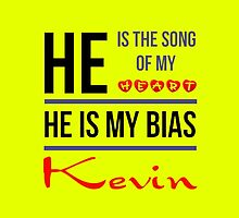 HE IS MY BIAS KEVIN - Yellow by Kpop Seoul Shop