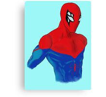 Spider-Man Alternative Suit Design Bust (Blue) Canvas Print